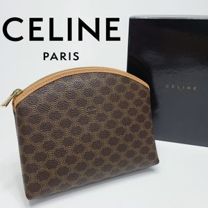 Celine Logo Makeup Bag Toiletry Cosmetic Pouch NEW